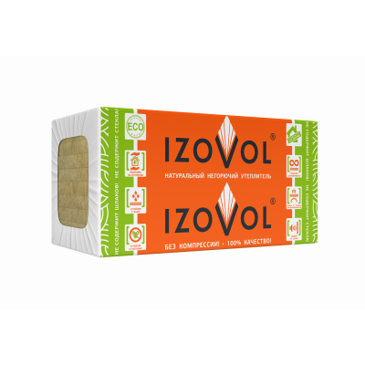 Утеплитель IZOVOL Ст-75, 1200Х600Х100 мм, (4 плиты, 2,88 кв.м) - 1