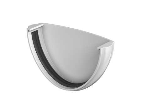 ТН ПВХ D125/82 мм заглушка желоба - 2