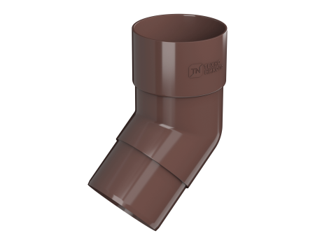 ТН ПВХ D125/82 мм колено трубы 135° - 1