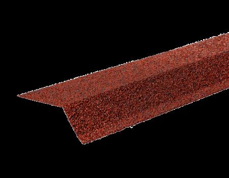 ТЕХНОНИКОЛЬ Планка карнизная с гранулятом, красный, шт. - 1