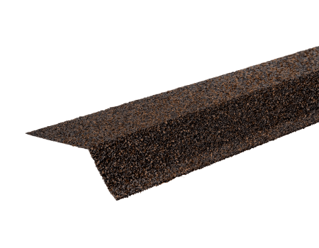 ТЕХНОНИКОЛЬ Планка карнизная с гранулятом, светло-коричневый, шт. - 1