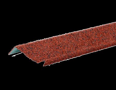 ТЕХНОНИКОЛЬ Планка примыкания с гранулятом, красный, шт. - 1