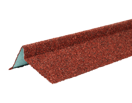 ТЕХНОНИКОЛЬ Планка торцевая с гранулятом, левая, красный, шт. - 1