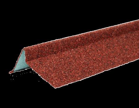 ТЕХНОНИКОЛЬ Планка торцевая с гранулятом, правая, красный, шт. - 1