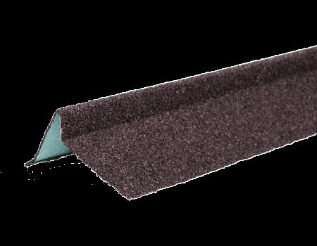 ТЕХНОНИКОЛЬ Планка торцевая с гранулятом, правая, коричневый, шт. - 1