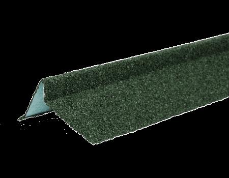 ТЕХНОНИКОЛЬ Планка торцевая с гранулятом, правая, зеленый, шт. - 1