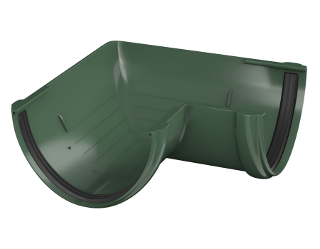 ТН ПВХ D125/82 мм угол желоба 90° - 2