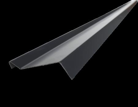 Планка примыкания PVC RAL 9005, черная, шт. - 1