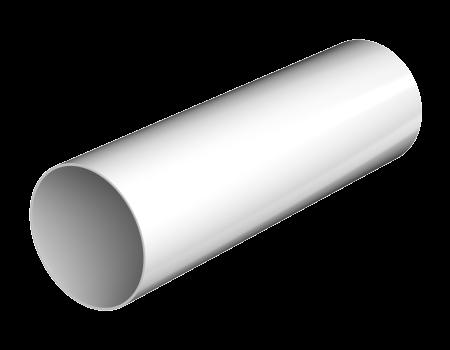 ТН ПВХ D125/82 мм труба (1,5 м), белая - 1