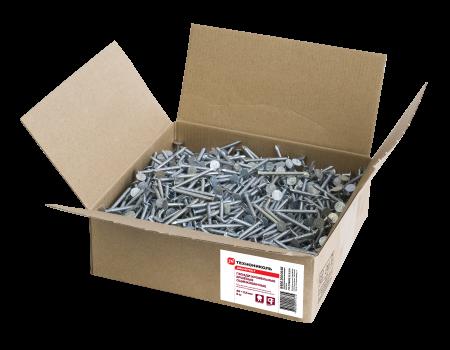 Удлиненные ершеные гвозди оцинкованные SHINGLAS, 45х3,5 мм, 5 кг - 1