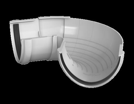 ТН ПВХ D125/82 мм угол желоба, регулируемый 90°-150°, белый - 1