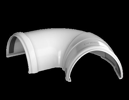 ТН ПВХ D125/82 мм угол желоба, регулируемый 90°-150°, белый - 2