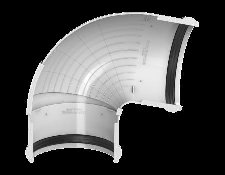 ТН ПВХ D125/82 мм угол желоба, регулируемый 90°-150°, белый - 3