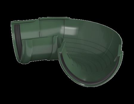 ТН ПВХ D125/82 мм угол желоба, регулируемый 90°-150°, зеленый - 1