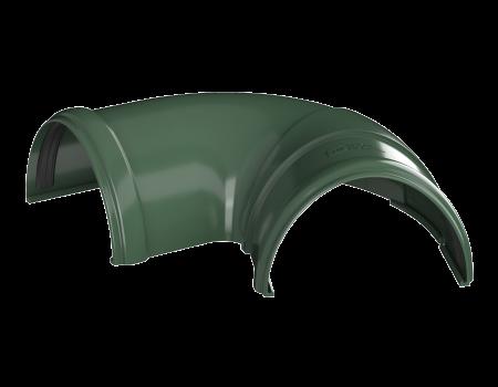 ТН ПВХ D125/82 мм угол желоба, регулируемый 90°-150°, зеленый - 2