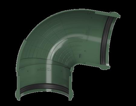 ТН ПВХ D125/82 мм угол желоба, регулируемый 90°-150°, зеленый - 3