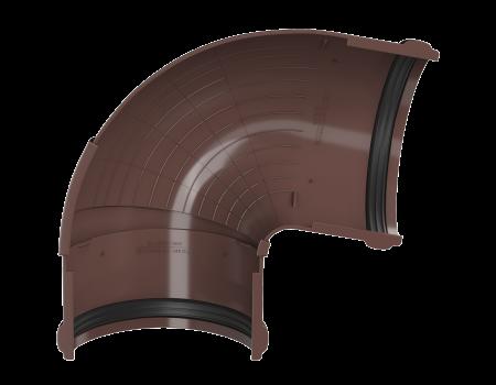 ТН ПВХ D125/82 мм угол желоба, регулируемый 90°-150°, коричневый - 3