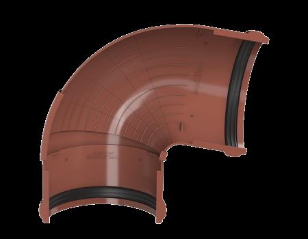 ТН ПВХ D125/82 мм угол желоба, регулируемый 90°-150°, красный - 3