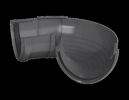 ТН ПВХ D125/82 мм угол желоба, регулируемый 90°-150° - 1