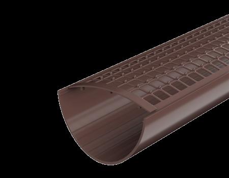 ТН ПВХ D125/82 мм желоб (3 м), коричневый - 3