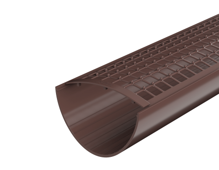 ТН ПВХ D125/82 мм желоб (1,5 м), коричневый - 3