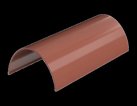 ТН ПВХ D125/82 мм желоб (1,5 м), красный - 2