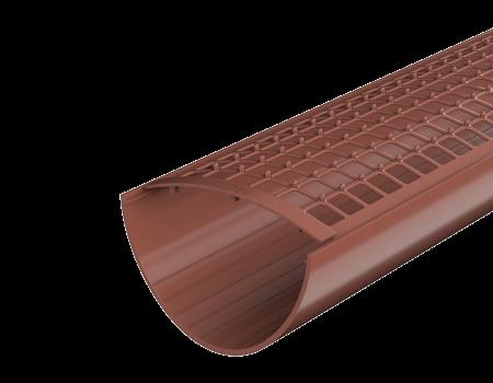 ТН ПВХ D125/82 мм желоб водосточный (1,5 м), красный - 3