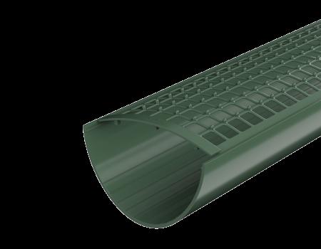 ТН ПВХ D125/82 мм желоб (1,5 м), зеленый - 3