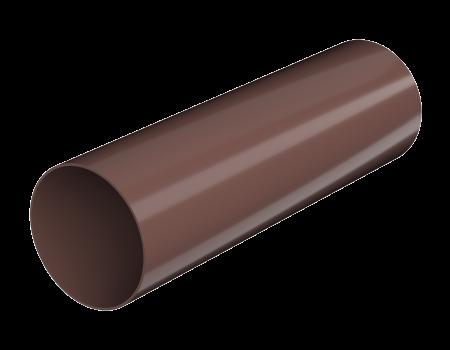 ТН ПВХ D125/82 мм труба (1,5 м), коричневая - 1