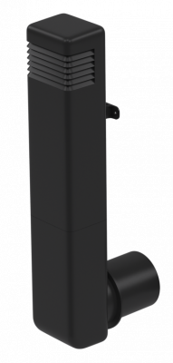 Цокольный дефлектор, темно-серый - 2