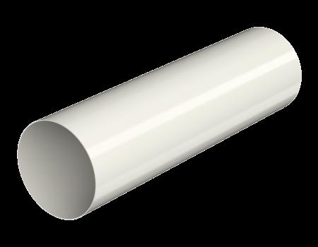ТН ПВХ МАКСИ труба 1м, белая - 1