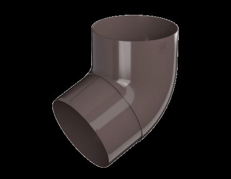 ТН ПВХ МАКСИ колено трубы 67°, коричневое - 1