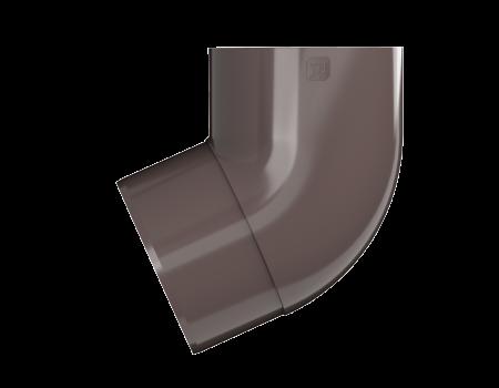 ТН ПВХ МАКСИ колено трубы 67°, коричневое - 2
