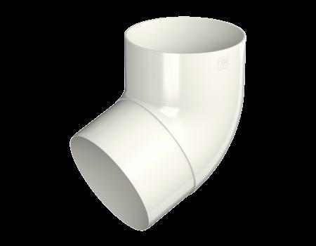 ТН ПВХ МАКСИ колено трубы 67°, белое - 1