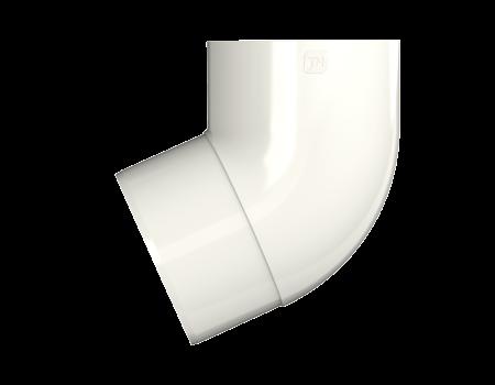 ТН ПВХ МАКСИ колено трубы 67°, белое - 2