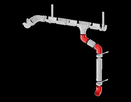 ТН ПВХ МАКСИ колено трубы 67°, белое - 8