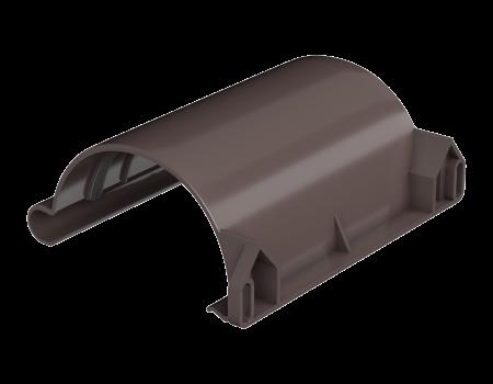 ТН ПВХ МАКСИ соединитель желоба, коричневый - 1