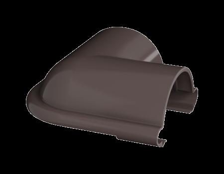 ТН ПВХ МАКСИ угол желоба 90°, коричневый - 4