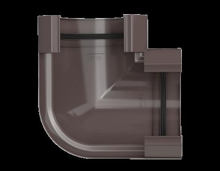ТН ПВХ МАКСИ угол желоба 90°, коричневый - 2