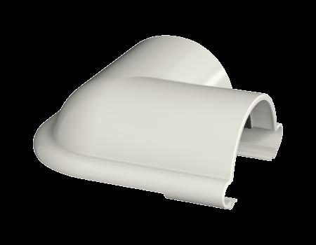 ТН ПВХ МАКСИ угол желоба 90°, белый - 1