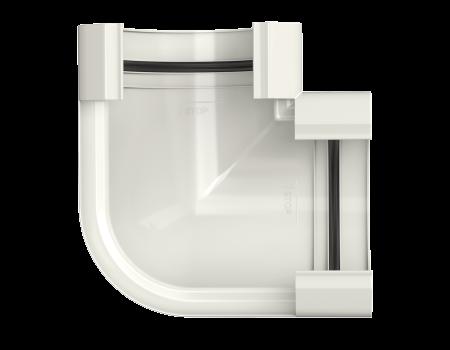 ТН ПВХ МАКСИ угол желоба 90°, белый - 2