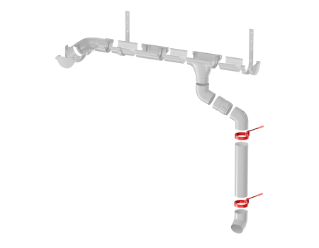 ТН ПВХ МАКСИ хомут трубы, белый - 9