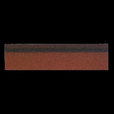 Коньки-карнизы SHINGLAS Красный микс 253х1003 мм (20 гонтов, 20 пог.м, 5 кв.м) - 1