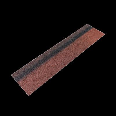 Коньки-карнизы SHINGLAS Красный экстра 253х1003 мм (20 гонтов, 20 пог.м, 5 кв.м) - 1