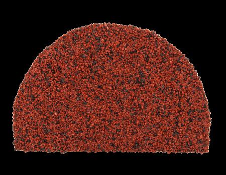 Заглушка конька полукруглого LUXARD Бордо, 95х148 мм, (радиус 74 мм) - 1