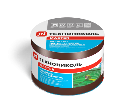 NICOBAND коричневый 10м х 10см ГП (коробка 3 рулона) - 1