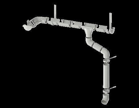 ТН ПВХ МАКСИ колено трубы 67°, белое - 3