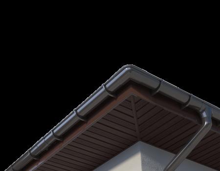 ТН ПВХ МАКСИ воронка желоба, коричневая - 7
