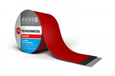Лента-герметик NICOBAND красный 3м х 7,5см ГП (коробка 16 рулонов) - 5