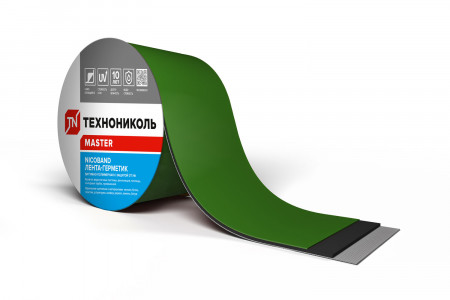 NICOBAND зеленый 3м х 10см ГП (коробка 12 рулонов) - 5
